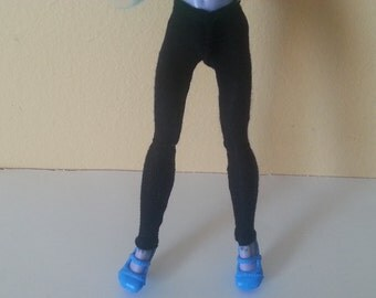 Black Leggings Made to Fit Monster, Ever After, High Dolls