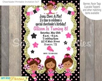 Cheer Party Invitation, Birthday Parties DIY Printable File