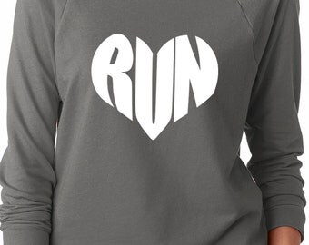 Run Love Running Love Off the Shoulder French Terry Sweatshirt Running Sweatshirt Workout S