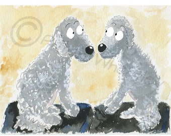 Bedlington Terrier Dogs  Art Print #1