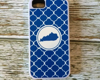 Custom Kentucky UK Blue Smart Phone Case - 9 Patterns Available - iPhone 6 Plus, 6/6s, 5/5s, 4/4s Cell Phone - KY Bluegrass Personalized