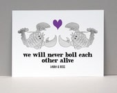 Lobster Love Card or Print / Husband Gift Anniversary / LOBSTER Couple Personalized Wall Art / Gift for Men / Home Decor / Love Art