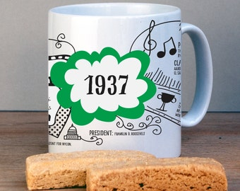 Personalized 1937 Birthday Mug For 80th Birthday-USA History Version-1937 Birthday Gift-Personalized Birthday Gift-80th Gift-Gift for Mom