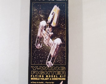 Vintage Estes Star Wars Y-Wing Fighter Flying Model Kit, 1996, New in Box
