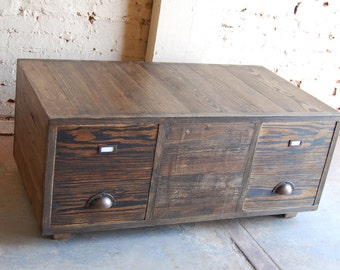 Coffee Table/ Bench/ File Cabinet/ Crates/ Reclaimed/ Office/ Mud Room/ Entry