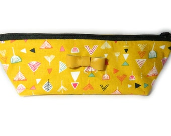 Pencil Case Aztec with Leather Bow