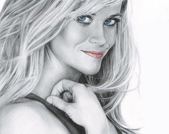 Drawing Print of Reese Witherspoon