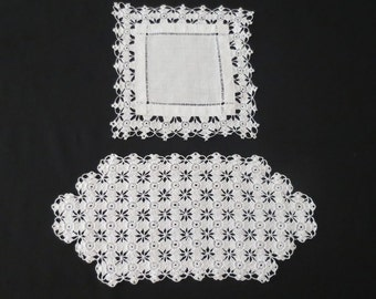 Two Hand Crocheted Vintage Doilies