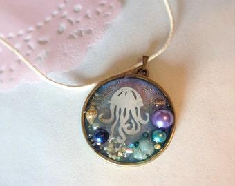 Jellyfish Cutout pendant