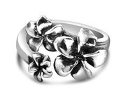 """Spoon Ring: """"Plumeria"""" by Silver Spoon Jewelry"""