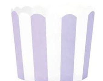 BAKING CUPS - Lavender and White Stripe - Set of 25 : The Paper Doll