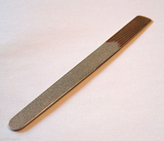 14K Yellow Gold Nail File.... Made By: Marchal Jewellers of NEW YORK !