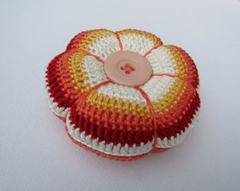 Crochet pin cushion, pincushion