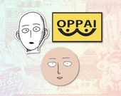 One Punch Man Set of 3 Stickers