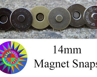 14mm Magnet Snaps for handbags and purses - set of two