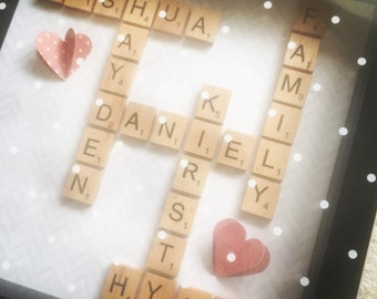 Scrabble frame art...can be fully personalised