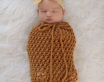 Karma Snuggle/Swaddle Sack - Newborn - Photography Prop - Crochet - Sack ONLY