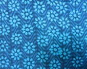 Floral Hand Block  Print Indian Cotton Fabric Sold by Yard