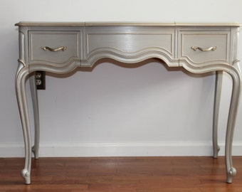 French Light Grey DREXEL Vanity/Desk/Accent Table