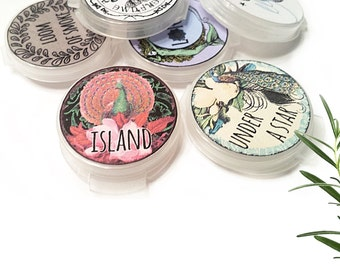 Solid Perfume Gift samples Eco Friendly 100% Natural Fragrance Samples Perfume Samples Set of 5+ cruelty free vegan or Beeswax Perfume