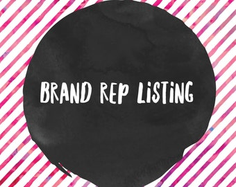 Listing for Brand Rep