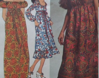 Vintage Simplicity 9354 Sewing Pattern Dress in Two Lengths Size 16 Bust 38