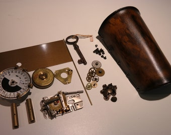 D.I.Y steampunk leather bracer , made to order