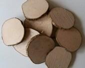 Large, speckled, hazel, wood slices, 9cm, Tree slices, branch slices, wooden slices, craft, crafting, wedding, outdoor crafts