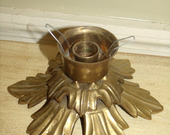 Vintage  1-pc Brass Candle Holder - Solid Brass Candleholder  Home Decor Table Decoration Gift