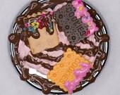 Pink & Brown Cookie Pillbox