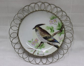 Decorative Wall Hanging Plate - Hand Painted in Japan