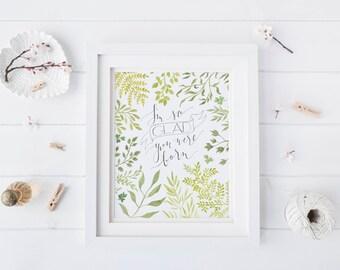 Nursery decor, nursery wall art, nursery art, botanical print, watercolor print, nature prints, nature art