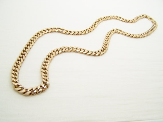 thick gold cuban chain necklace 22 inch by almightysale on