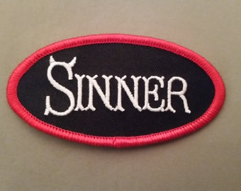 sinner embroidered patch