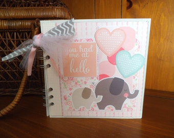 Completed scrapbook album- You Had Me at Hello