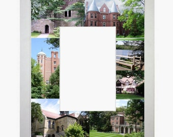 Wellesley College, University Picture Frame, Photo Mat, Unique, Gift, School, Graduation Gift, Personalized Gift