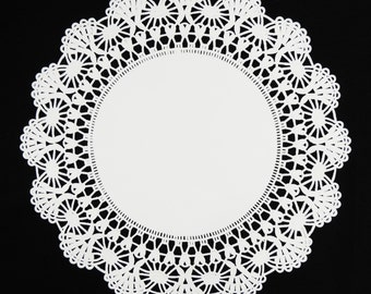 "8"" & 10"" WHITE Cambridge PAPER Lace DOILIES 