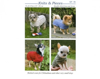 Hand Knitted Dog Coats Knit and Pieces for Small Dogs and Chihuahuas Knitted Dog Coats