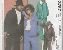 McCall's 3787 Size Sml-Med-Lrg or Xlg-Xxl Misses' and Men's Jacket, Pants and Hat Sewing Pattern 2002 Uncut
