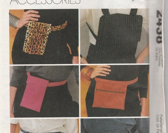 McCall's 2438 Fashion Accessories Misses' Belt Bags Sewing Pattern 1999 Uncut