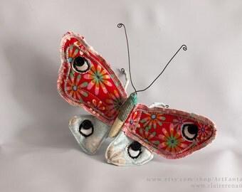 Butterfly #1 - Soft Sculpture - Textile Art - Wall decoration