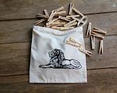 Reusable Produce Bags  Eco Farmers Market Bags Black Lion design