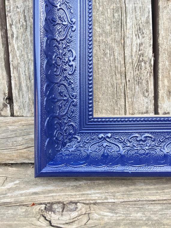 navy blue 11x14 frame ornate picture frame wide by thepaintedldy. Black Bedroom Furniture Sets. Home Design Ideas