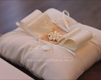 Ring Pillow Taffeta & Satin Ribbons