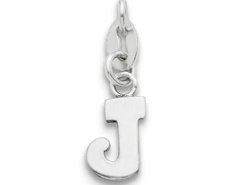 Sterling Silver Initial J Pendant