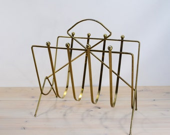 Metal Rack, Magazine, Newspaper , Gold Regency
