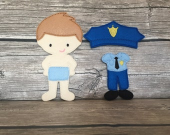 NonPaper Dolls Policeman DOLL ONLY