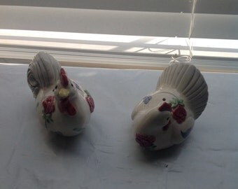 Vintage Lenox Chicken and Rooster Salt and Pepper Shakers