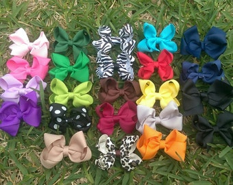 2.5 inch Boutique Style Hair Bow, Infant/Children/Baby Bow Hair Clip READY TO SHIP