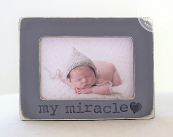 Gift New Mom New Baby Personalized Frame Miracle Pregnancy Announcement New Baby Ultrasound Picture Frame